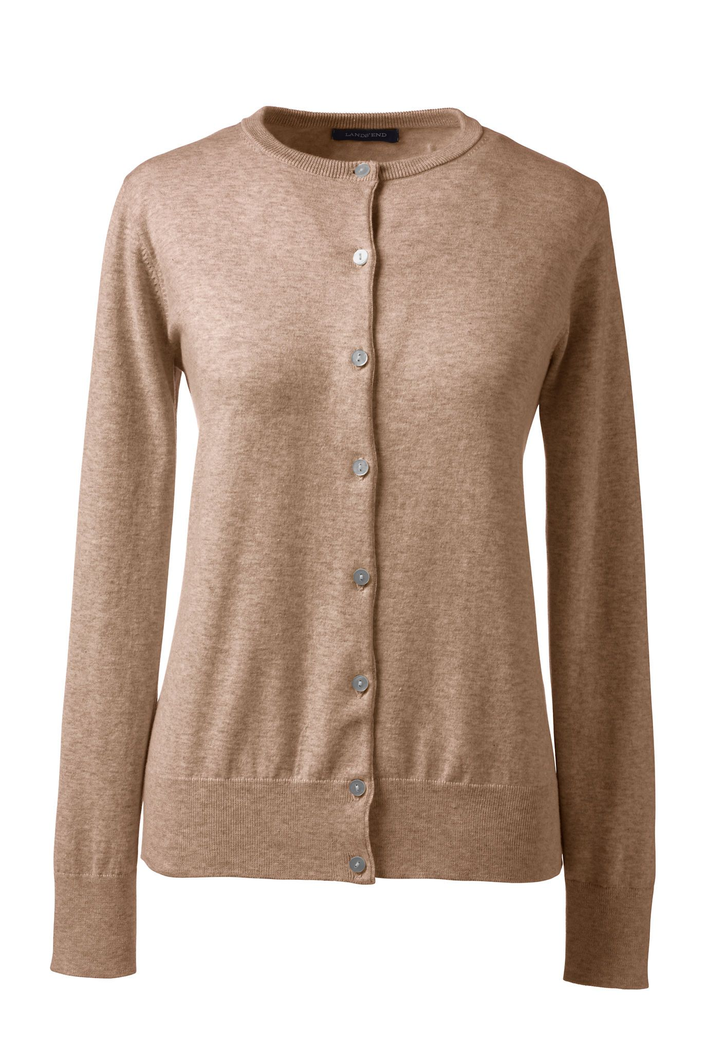 Classic Supima Cotton Cardigan in Vicuna Heather, $49.00 | style ...