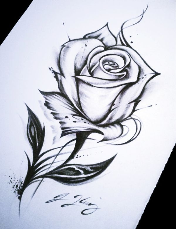 40 Cool And Simple Drawings Ideas To Kill Time Cartoon District Tatouage Rose Dessin Comment Dessiner Une Fleur Facile A Dessiner