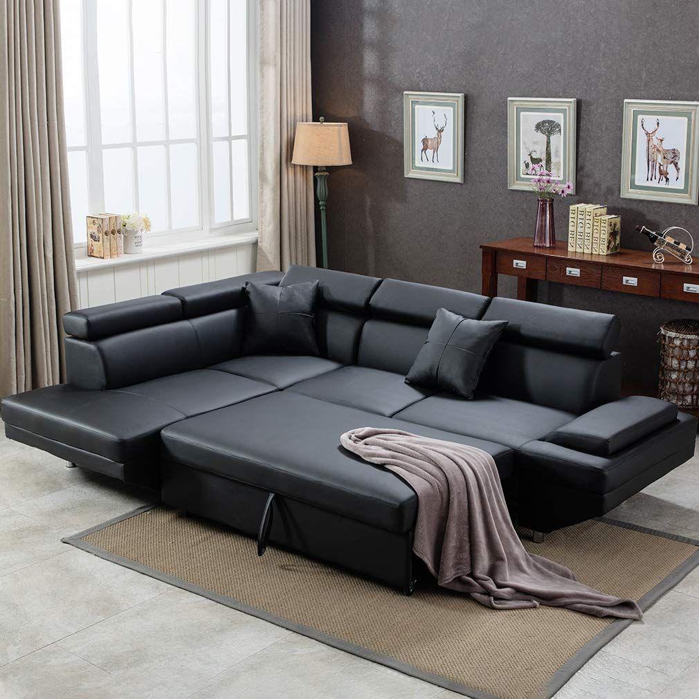 Amazon Com Corner Sofa Set 2 Piece Modern Contemporary Faux