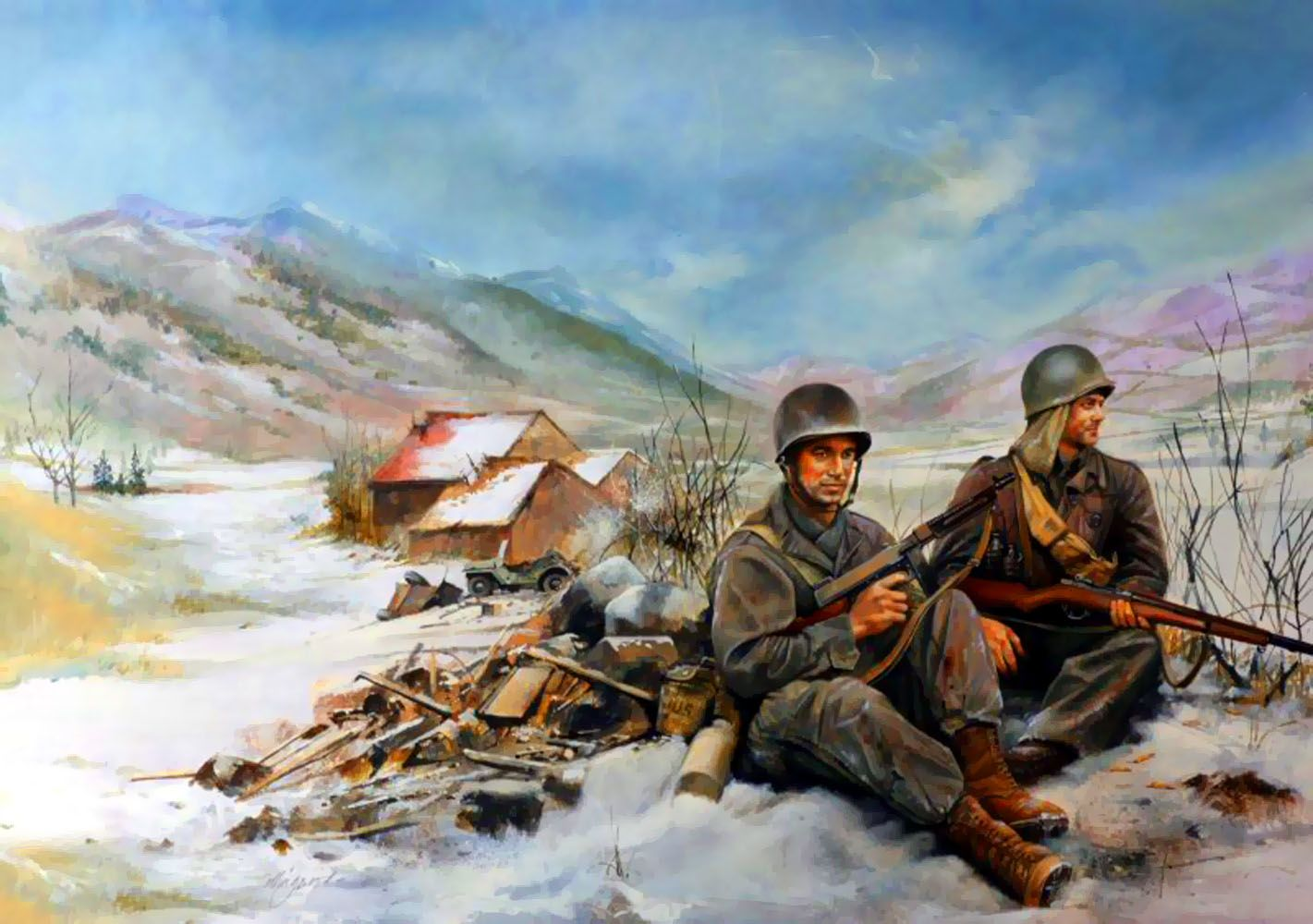 Us Sol Rs During Winter In The Korean War By Chris