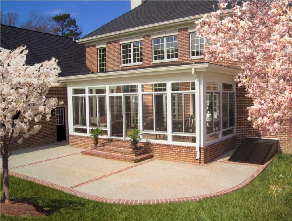 Exterior cool screen porch enclosures for winter and