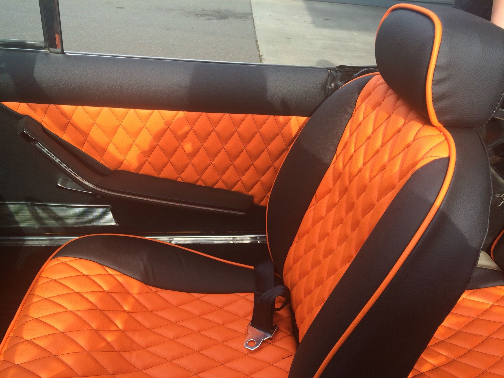 orange and black car interior cars and motorcycles pinterest car interiors cars and fiat. Black Bedroom Furniture Sets. Home Design Ideas