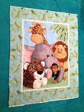 PETTY REED JUNGLE BABIES PRE- QUILTED FABRIC PANEL