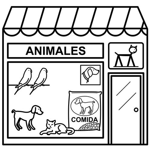 Dibujos De Tiendas Para Colorear Tiendas Fichas Tienda De Animales