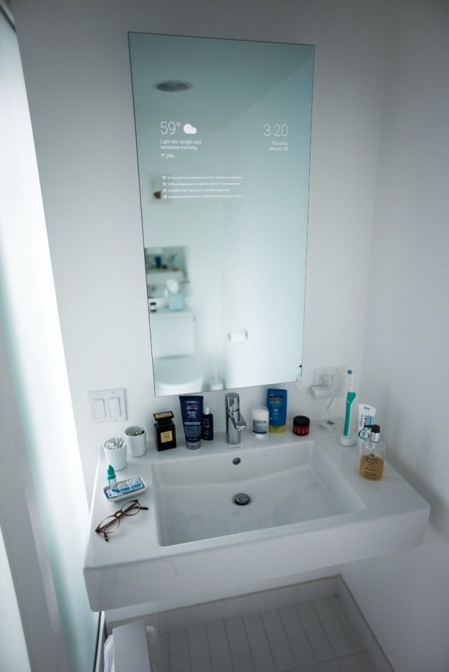 This Insanely Awesome And Futuristic Bathroom Smart Mirror Is