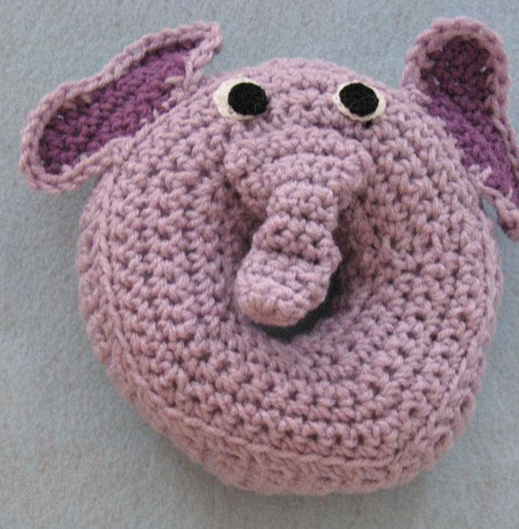 Elephant Donut Rattle For Baby Ready To by DonnasCrochetDesigns, $22.50