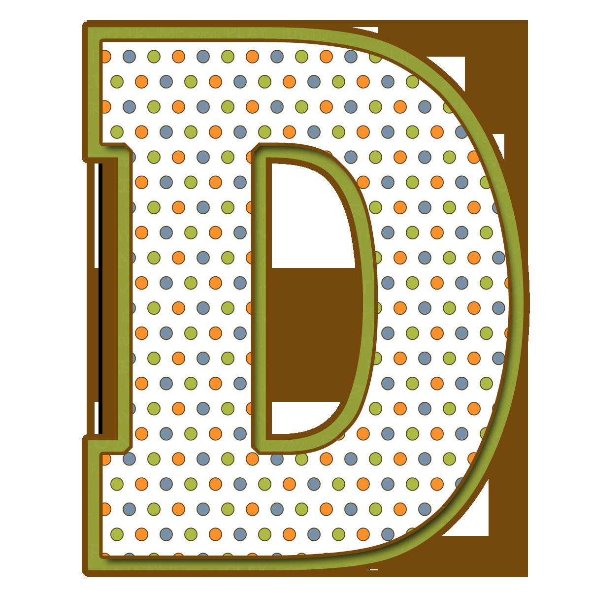 Letras Mayúsculas para imprimir de bolitas de colores. Letra D ...
