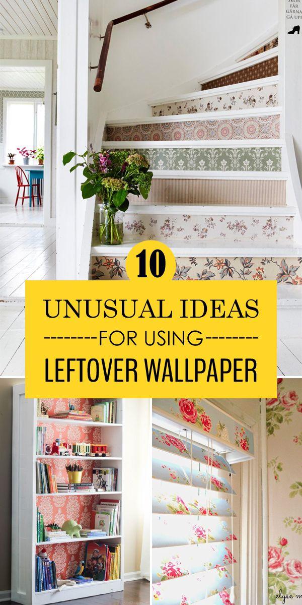 10 Unusual Ideas for Using Leftover Wallpaper Wallpaper