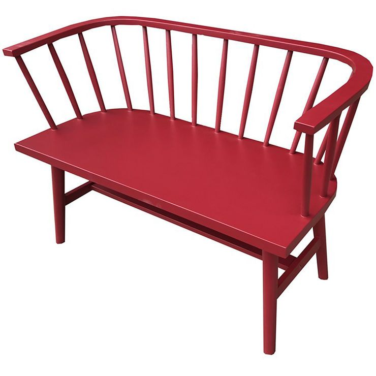 Dahlia Red Wooden Bench Wooden Bench Furniture Outdoor Chairs