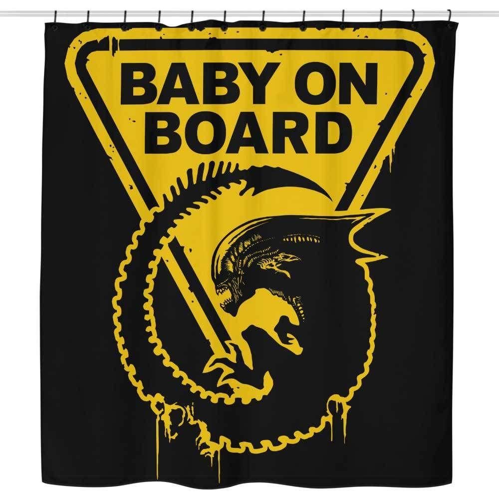 Baby On Board Shower Curtain Alien Concept Art Alien Xenomorph