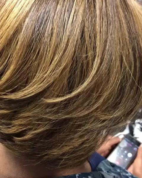 Custom color on natural hair 🥰 by @hairbykiyagee ❤