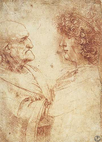 Image result for leonardo da vinci studies of old and young men