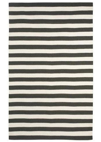Dwell Studio Cream And Black Dr Stripe Rug