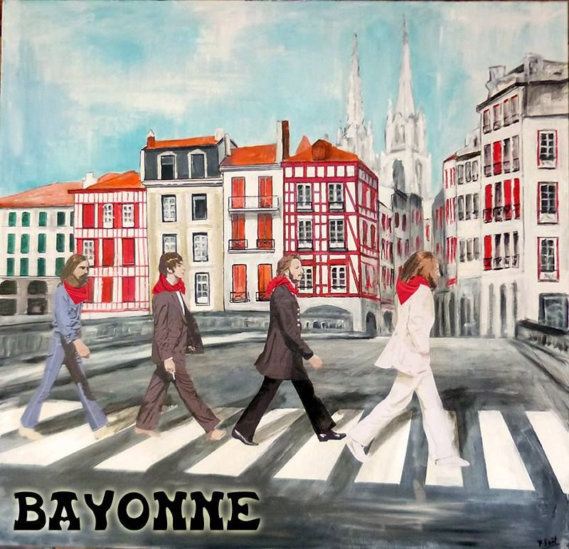 The #Beatles came in #Bayonne in #BasqueCountry walking down the street...