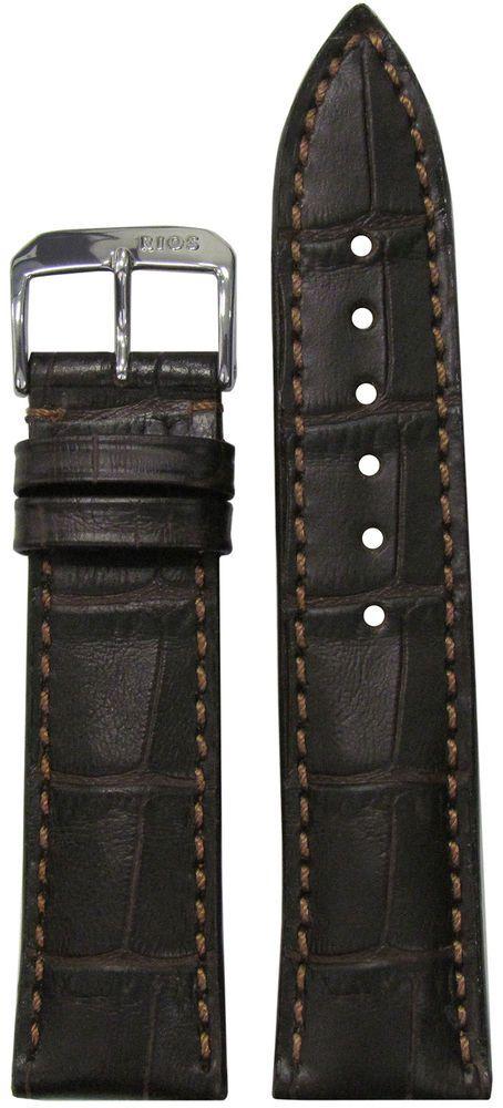 4a5aa059404 20mm Short Rios1931 for Panatime Mocha Louisiana Leather Watch Band w Gator  P