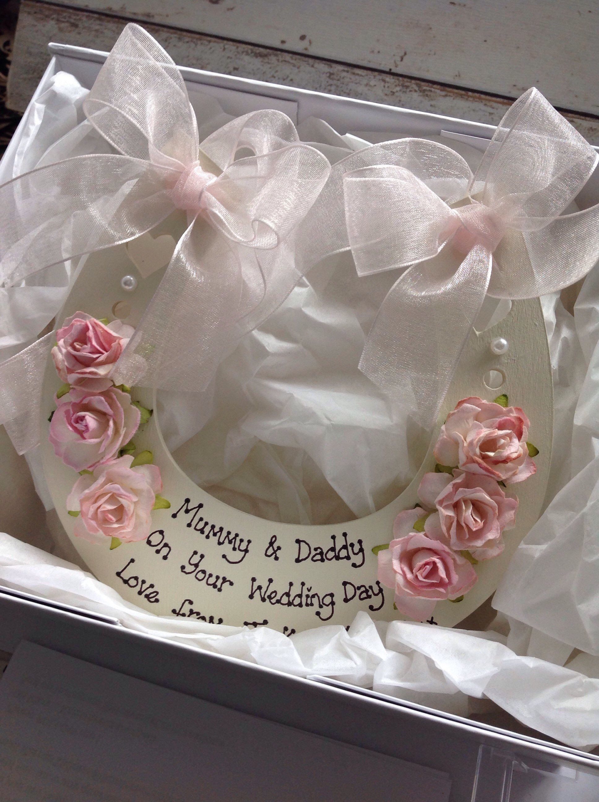 Boxed Personalised Wedding Gift Wedding Horseshoe In Luxury