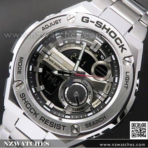 Casio G-Shock Analog Digital G-STEEL Layer Guard Stainless Steel Mens Watch  GST-210D-1A fb47cc17b