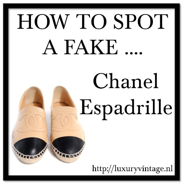 fe5e3ea1174168 How to spot fake Chanel Espadrilles | Luxury Vintage | Shoes in 2019 ...