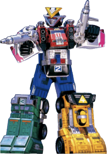 The Rescue Megazord Is The Second Megazord For The Turbo Rangers Thunder Loader And Star Racer Formed The Legs Si In 2020 Power Rangers Turbo Power Rangers Zeo Turbo