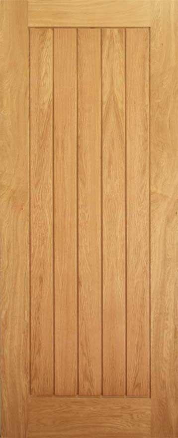 Ely Oak Framed Vertical Stave internal wood door
