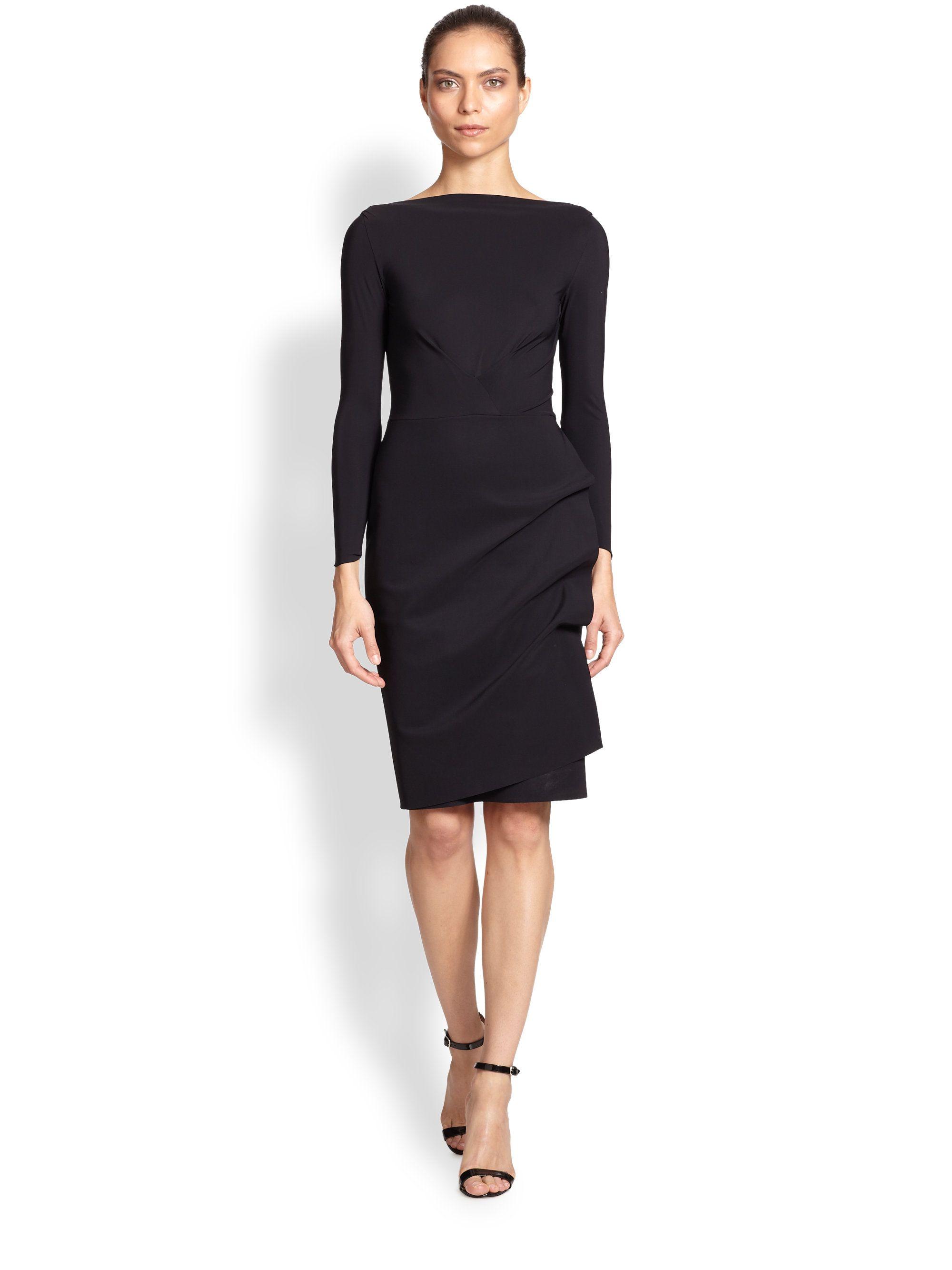 147dad91757 La petite robe di chiara boni Long-sleeve Cocktail Dress in Black .