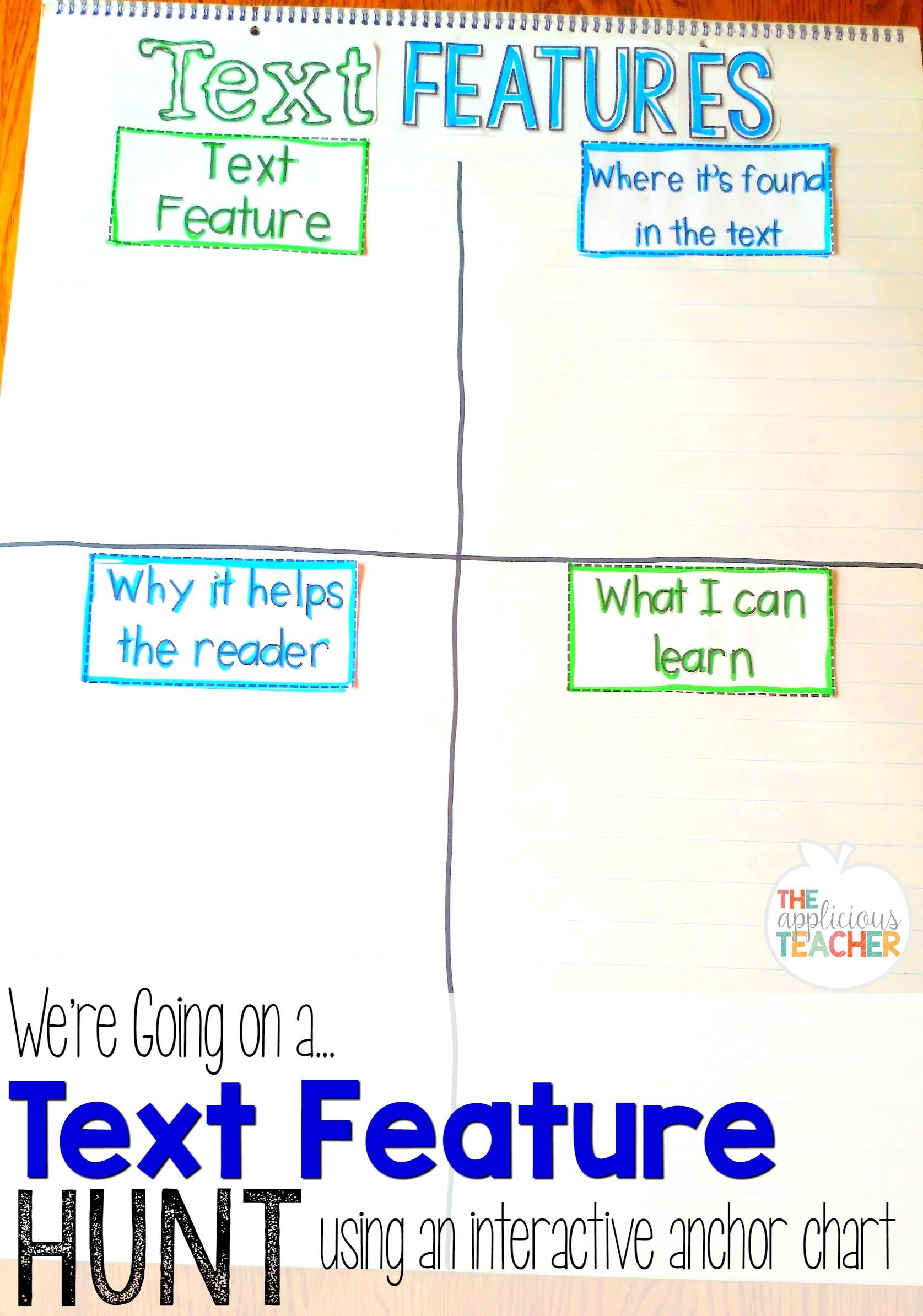 Love this idea for studying text features as you explore a non-fiction text. Students mark what feature they found and document their learning on it. So many other easy to implement ideas in this pack too!
