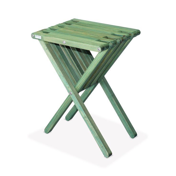 GloDea End Table X45, Alligator Green XQuare Outdoor Patio