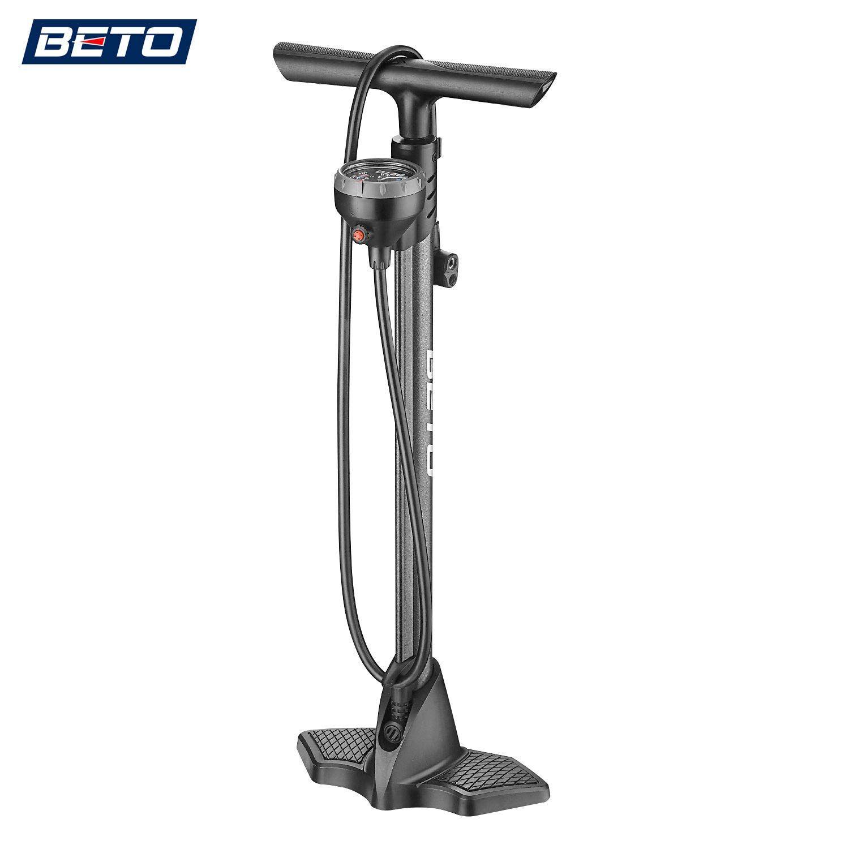 Both Presta and Schrader Bicycle Pump Valves-160Psi Max Portable Bike//Ball Pump