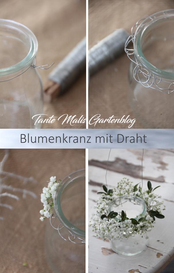 Photo of Blumenkranz aus Draht