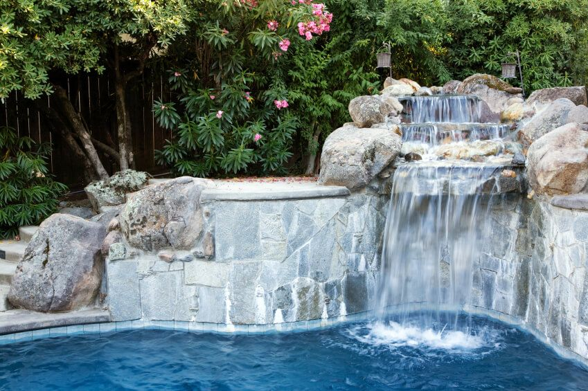 80 Fabulous Swimming Pools With Waterfalls Pictures Pool Waterfall Waterfall Design Pool Landscaping