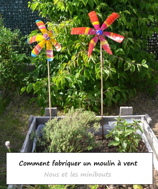 diy comment fabriquer un moulin vent avec des mat riaux recycl s nous et les minibouts l. Black Bedroom Furniture Sets. Home Design Ideas