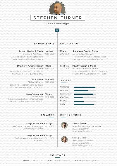 Quartic Resume layout, Resume, Chronological resume