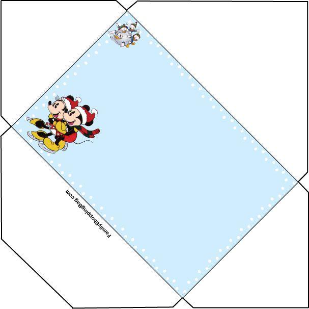 Mickey Christmas Stationery Envelope, Christmas, Invitations