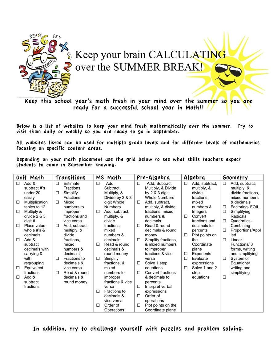 38 Free Printable Middle School Math Worksheets Middle School Math Worksheets Free Middle School Math Education Math [ 1165 x 900 Pixel ]