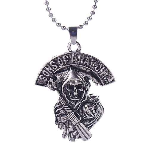 Sons Of Anarchy Necklace Antique Silver Necklace Gift Necklace Fashion Jewelry