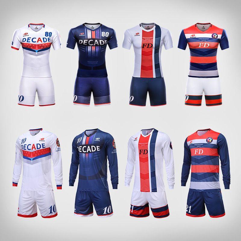 72583f87 Professional design mens football uniforms kit quick dry breathable  football team shirt custom sublimation blank soccer jerseys Price: 346.68 &  FREE ...