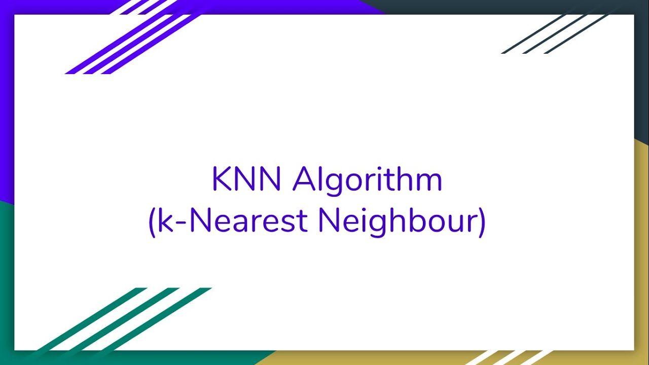 Use of KNN | K-Nearest Neighbour | how knn algorithm works