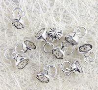 925 Sterling Silver Lotus pôvaby krásnej Mini prívesky DIY náramok náhrdelník Príslušenstvo 5ks 8mm