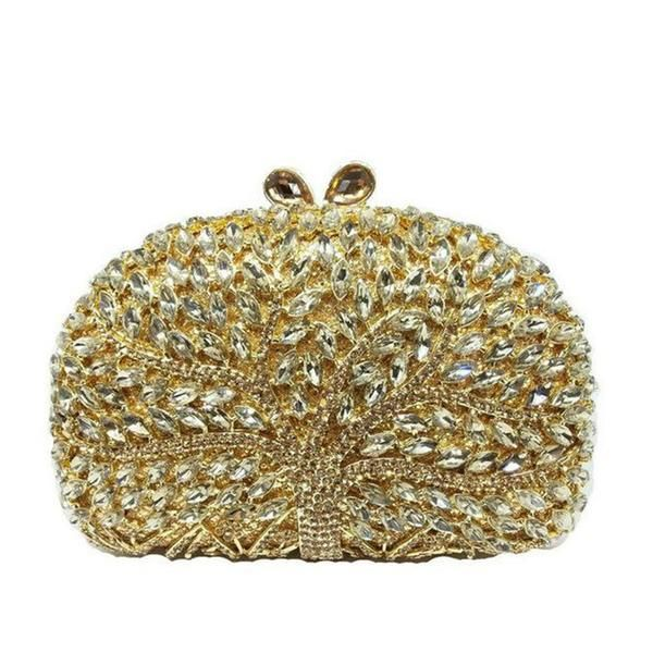 7580be417892 GIFT BOX Trees Sparkling Luxury Evening Bags Clutches For Wedding Women  Crystal Rhinestone Handbags Brand Casual Clutch Hand Bag