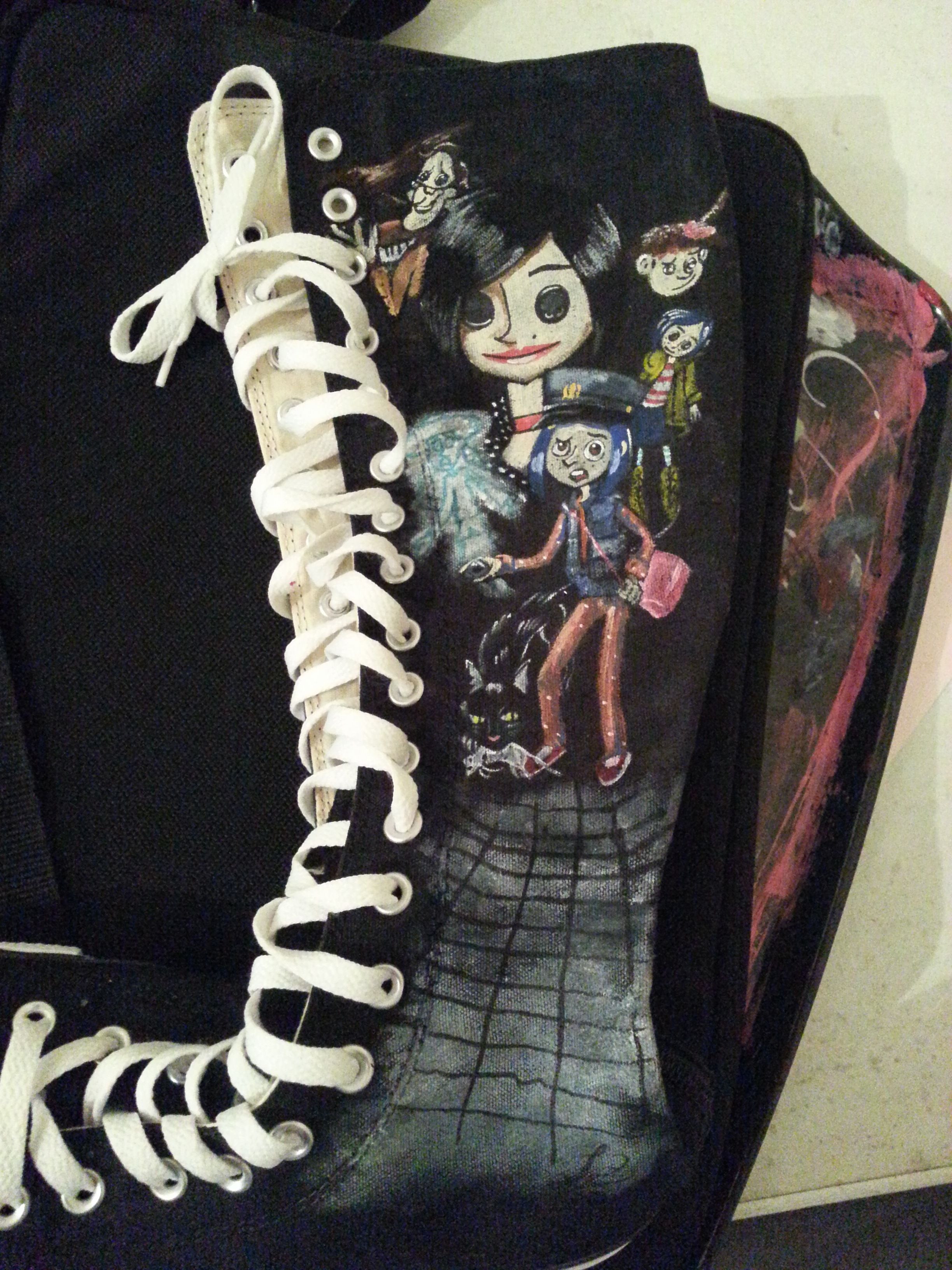 Sister Boot to the Knee High Converse Nightmare Before Christmas ...