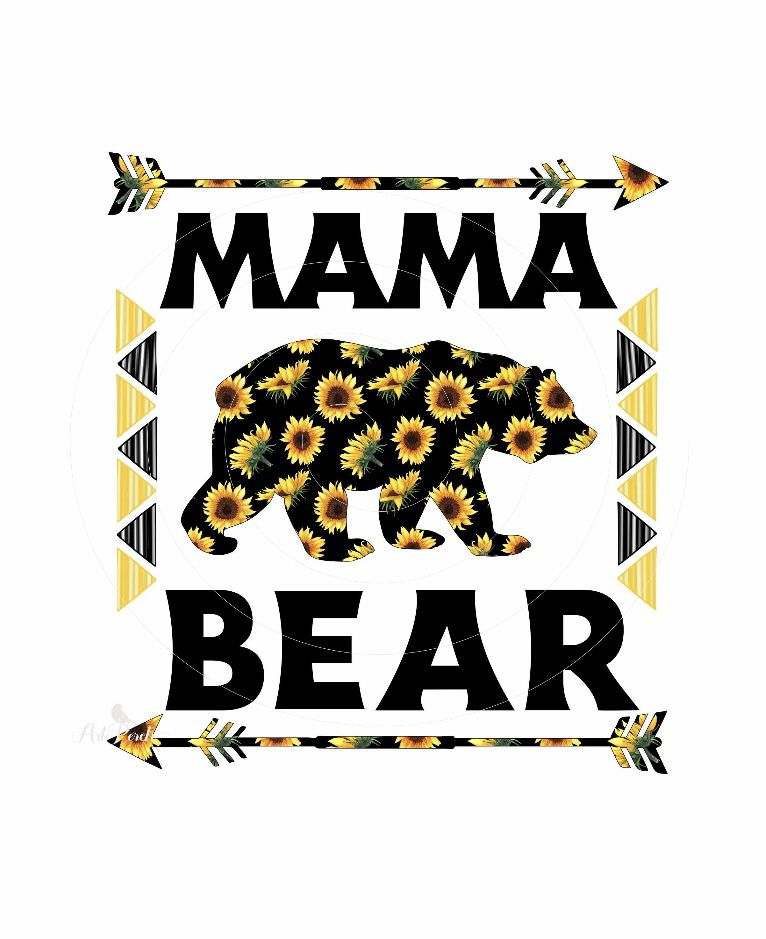 Mama Bear Png Design Sunflower Arrows Instant Download Etsy Instant Download Etsy Mama Bear Png