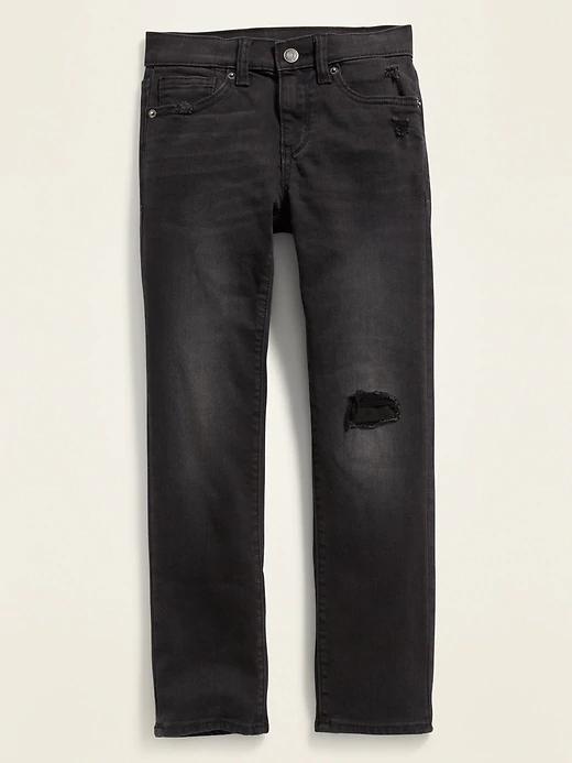 Karate Distressed Built In Tough Black Jeans For Boys Old Navy In 2020 Distressed Black Jeans Black Jeans Black Jeans Men