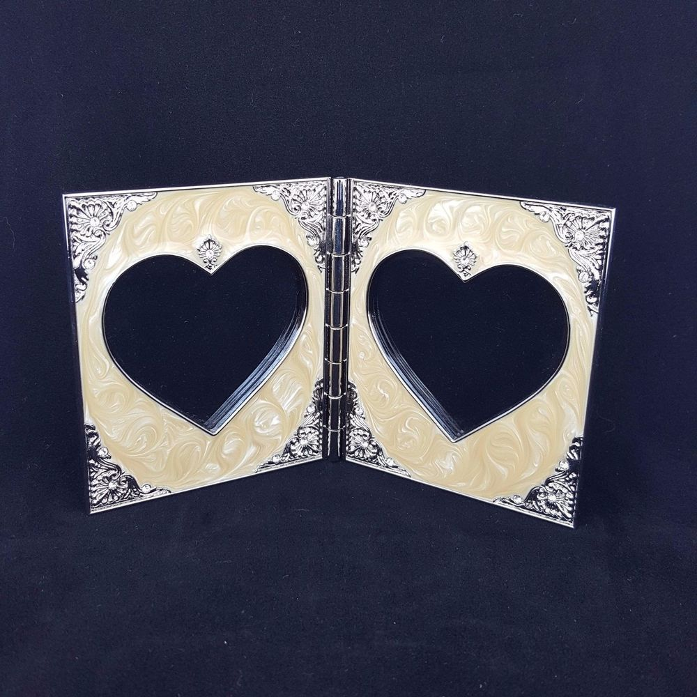 Things remembered swarovski crystal component double heart picture things remembered swarovski crystal component double heart picture frame 3x5 jeuxipadfo Images