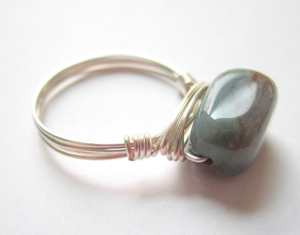 Wire+Wrapped+Bracelet+Patterns | Gemstone Wire Wrapped Ring | Craft ...
