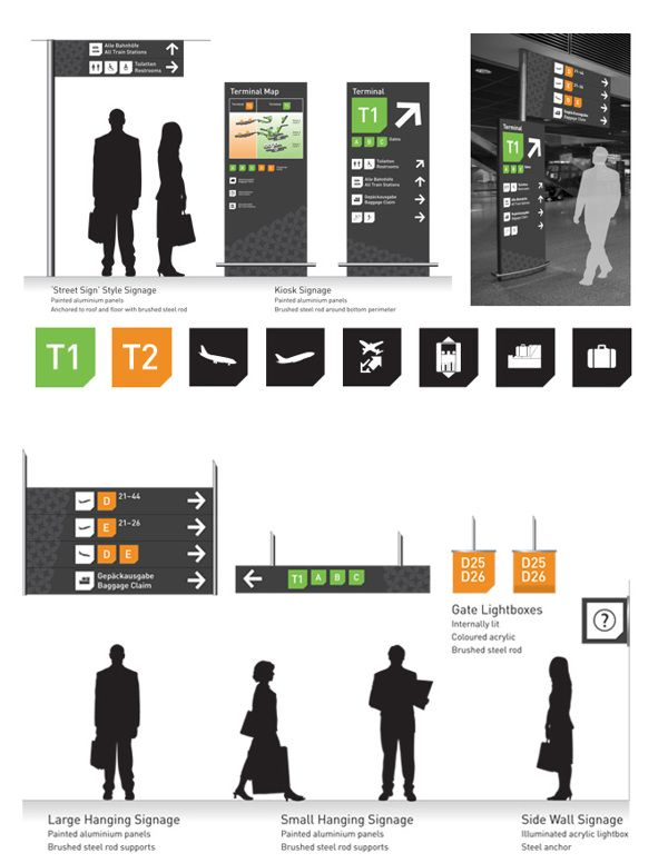 Frankfurt airport signage master 39 s project on behance for Grafikdesign studium frankfurt