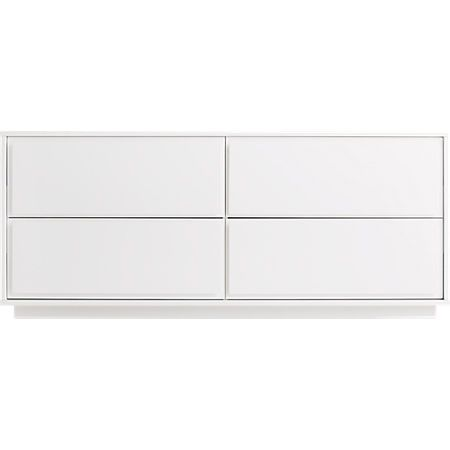 Gallery White 4 Drawer Low Dresser Reviews Low Dresser