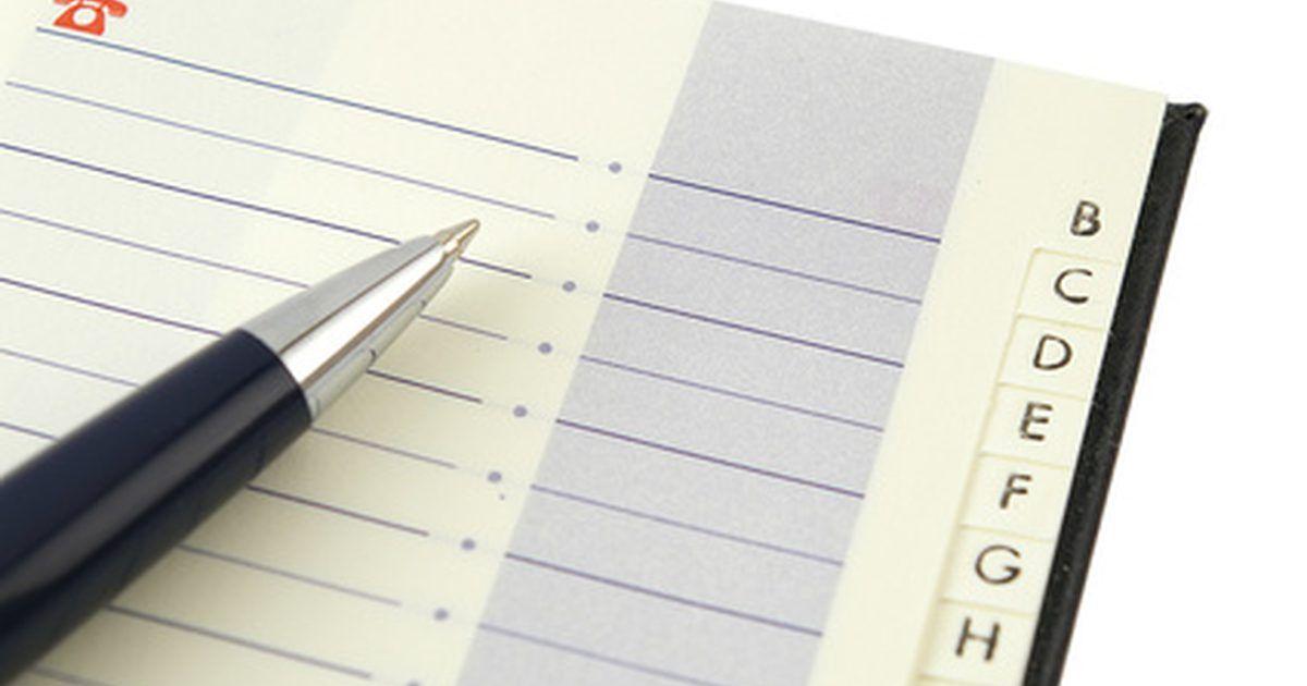 Cómo hacer gratis tu propia libreta de contactos lista para imprimir ...