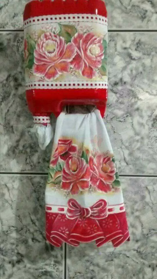 Recycled plastic bottle tissue and towel holder and more!