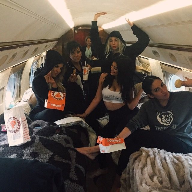 kyliejenner: POPEYES AND PJS