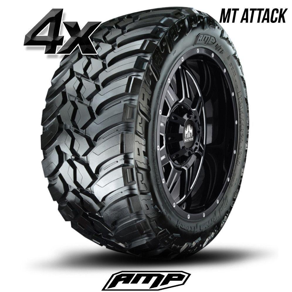 Ford Ranger All Terrain Tires: 4 AMP Mud Terrain Attack M/T A 305/55R20 305 55 20 3055520